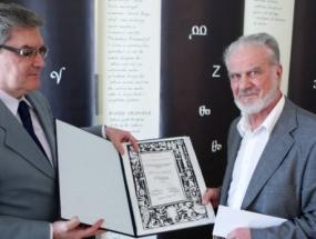 Predsjednik DHK Božidar Petrač i Milan Mirić, Foto: Petar Glebov / PIXSELL