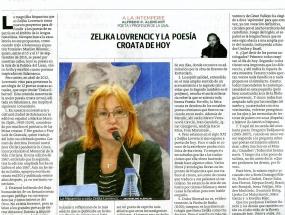Zeljka lovrencic y la poesia croata de hoy
